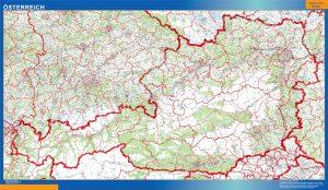 Osterreich landkarte