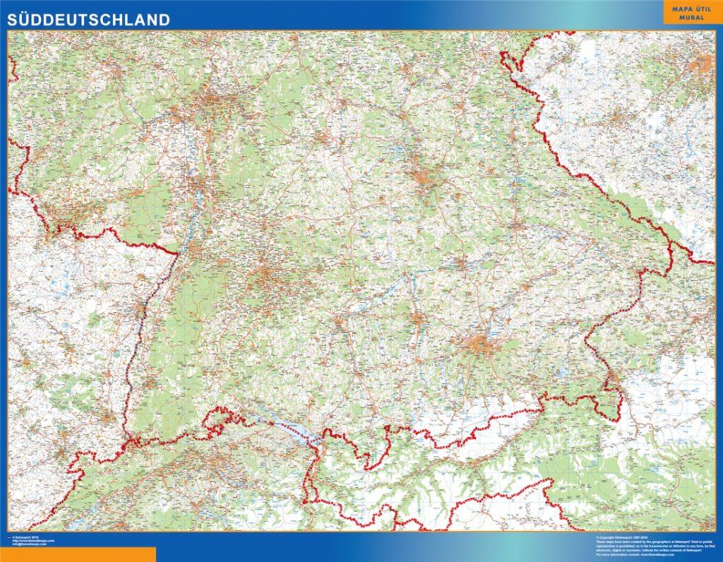 Süddeutschland Landkarte
