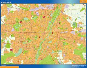 Stadtplan Munchen wandkarte