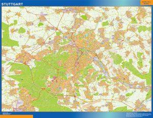 Stadtplan Stuttgart wandkarte