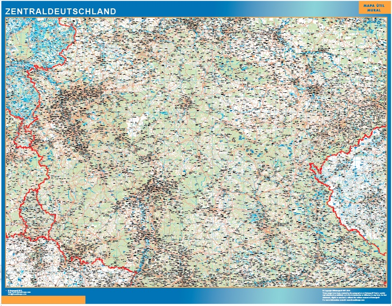 Zentraldeutschland Landkarte