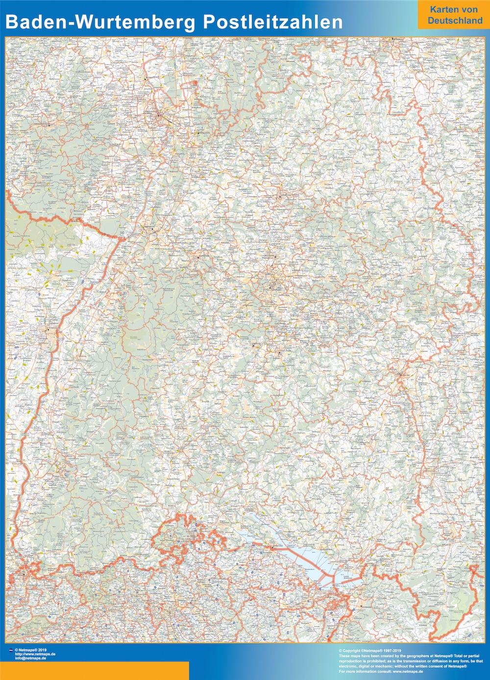 Baden-Wurtemberg Postleitzahlen