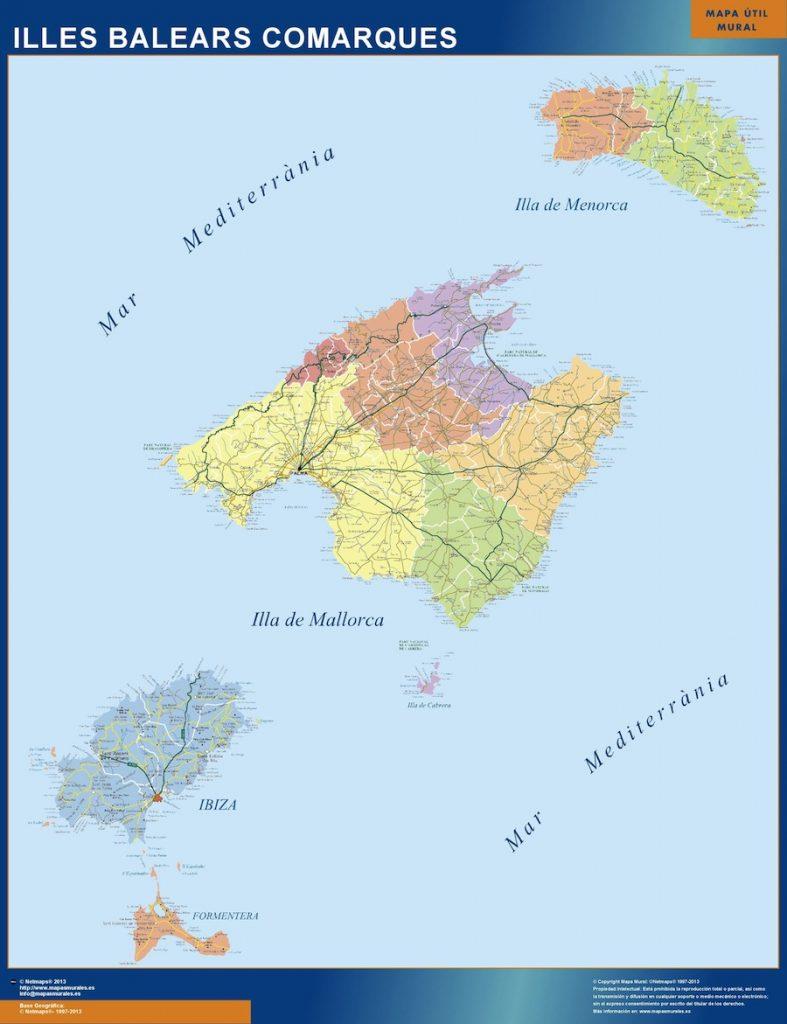 Balearen karte Spanien