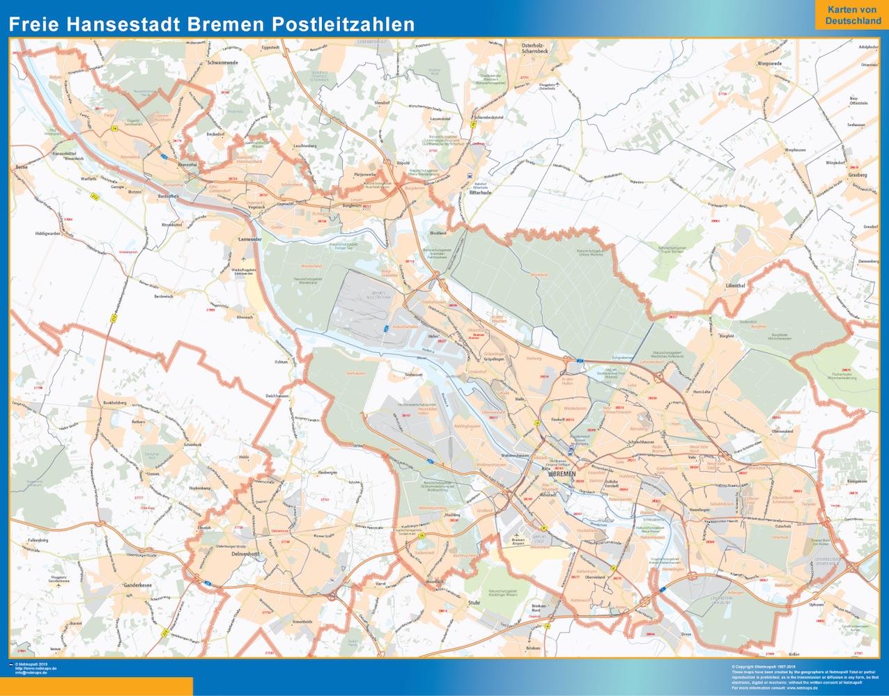 Freie Hansestadt Bremen Postleitzahlen