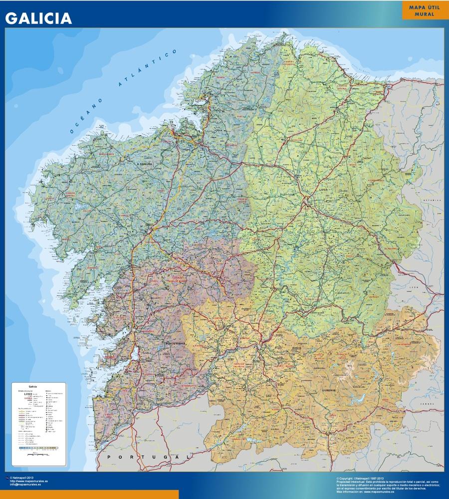 Karte von Galicien Spanien