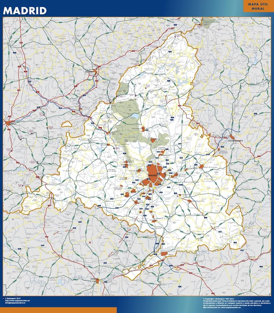 Madrid karte Spanien