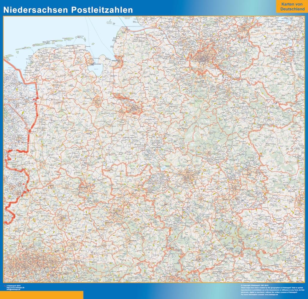 Niedersachsen Postleitzahlen