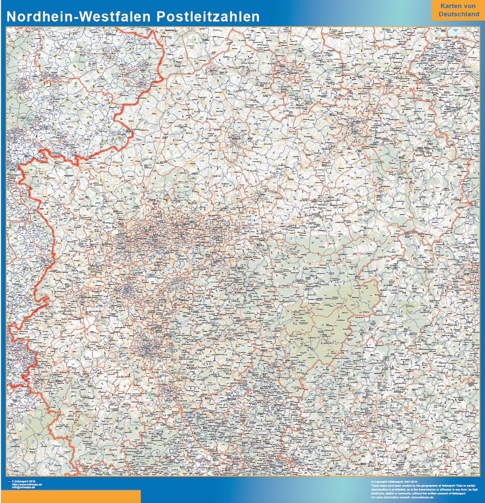 Nordrhein-Westfalen Postleitzahlen