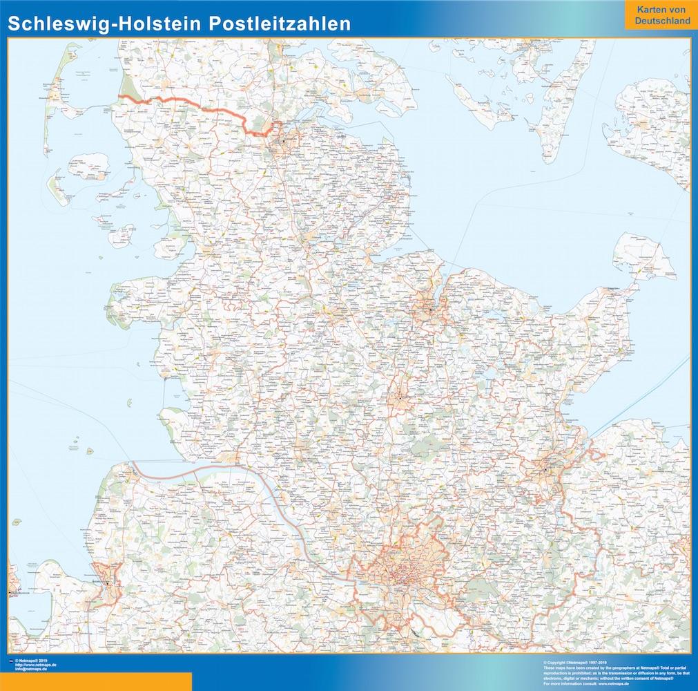 Schleswig-Holstein Postleitzahlen