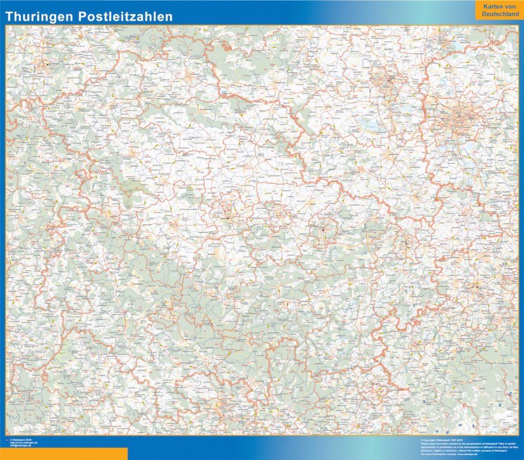 Thüringen Postleitzahlen