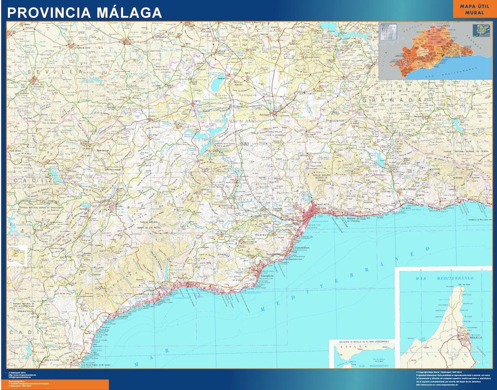 Karte von provinz malaga