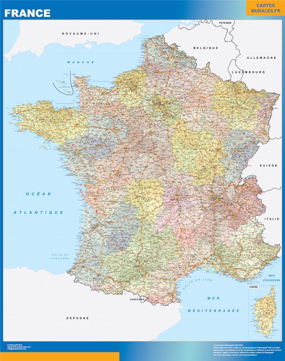 Karte Frankreich Politik